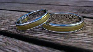Gay wedding rings engravings