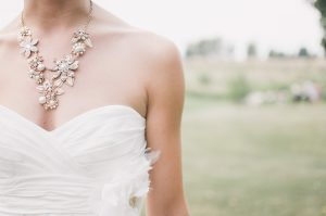 Wedding Dress Match With Jewellery