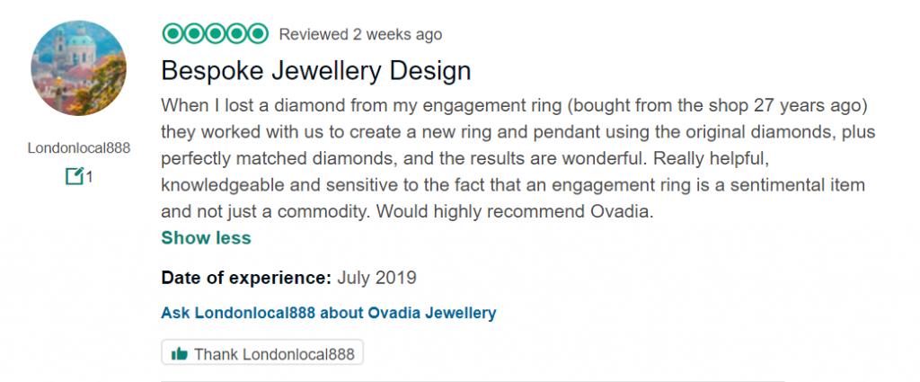 Customer review - Ovadia Jewellery