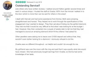 Outstanding Customer review - Ovadia Jewellery