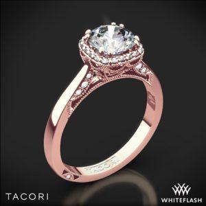Rose Gold Tacori Dantela Crown Solitaire Engagement Ring