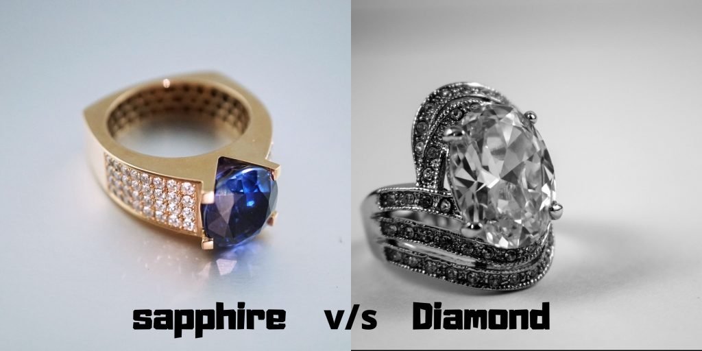 sapphire ring vs diamond ring Price