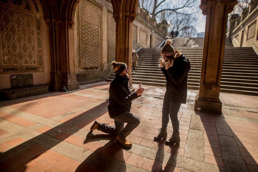 Christmas Proposal Engagement Ring