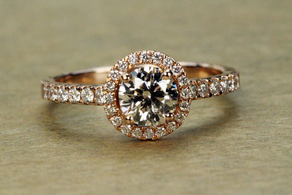 Rose Gold Matching engagement rings